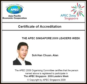 APEC Accredition Certificate