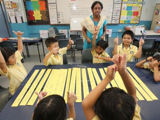Kids in Singapore schools